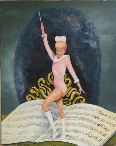Anja +- 1986 olieverf op doek - 40x50 cm