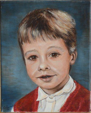 Kees jr 1986 olieverf op doek - 24x30 cm