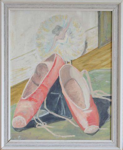 Spitzen 1985 olieverf op doek - 40x50 cm